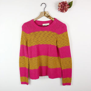 [LOFT] Striped Knit Pullover Sweater
